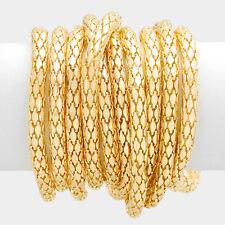 10 separate gold snake stretch bracelet bangle 048