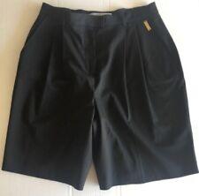 ST JOHN SPORT Black Bermuda Casual or Dressy Shorts Black High Waisted Size 6