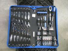 Kobalt 80 pc. Standard (SAE) & Metric Polished Chrome Tool Set 1/4