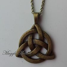 Bronze Celtic Knot infinity Pagan, Wiccan Style witch necklace