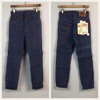 Vintage NOS Deadstock 70s 80s Dee Cee Dark Blue Indigo Denim Jeans Mens 27x32