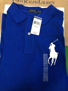 Polo Ralph Lauren Big Pony Polo Shirt Mens Size 2XB Big Logo Blue NEW With Tags