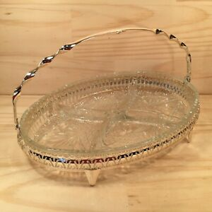 """MAYELL """"Silver"""" Gorgeous Silverplated Dish Serving Bowl with Glass Insert"""