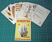 1950s Vintage Original Micromodels S5 HMS Victory Nelson's Flagship at Trafalgar