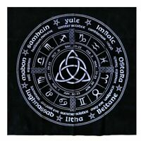 Witch Calendar Tarot Cloth Decor Divination Cards Wicca Velveteen