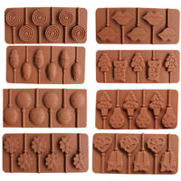 1Pcs Silicone Lollipop Tray Mould Candy Chocolate Sugarcraft Decorating Mold