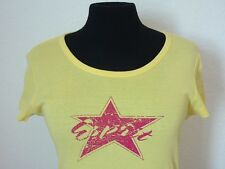 ORIGINAL ESPRIT COLLECTION DAMEN T-SHIRT EDC SHIRT RUNDKRAGEN GELB STAR