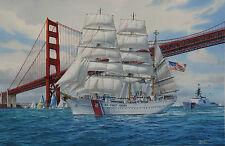 """The Eagle and the Golden Gate"" Tom Freeman U. S. Coast Guard Print"