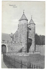 Maastricht Helpoort, PPC, 1911 PMK to Wallasey, UK, 13th c Medieval City Gate