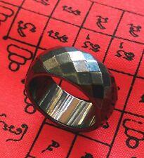 Ring Leklai Hematite Magnetic Thai amulet Prevent black magic relieve illness 57