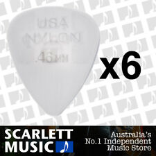 6 x Jim Dunlop Nylon Standard Greys .46mm Guitar Picks Plectrums 0.46 Grey