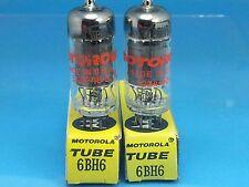 TUNG SOL 6BH6 VACUUM TUBE MATCH PAIR D GTR ABSOLUTELY NOS NIB LABELED MOTOROLA