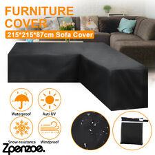 Waterproof Rattan Corner Furniture Cover Garden Outdoor Sofa Protecter L Shaped