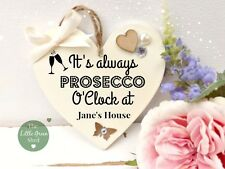 Personalised Gin Vodka Champagne Prosecco Heart Plaque Keepsake Gift