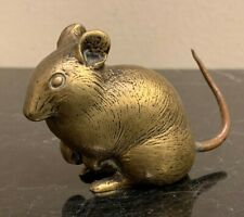 Vintage Bronze Mouse Rat Figurine