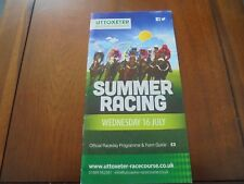 UTTOXETER RACE CARD JULY 16TH 2014 - TONY McCOY RIDES HIS 4191ST WINNER