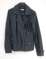 BLACK LEATHER JACKET BOMBER OR BIKER STYLE SIZE 8 BY TARGET