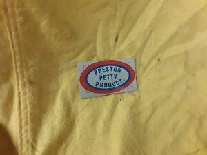 Preston Petty Decal New old Stock Genuine 70's classic