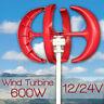 600W 12V/24V Lantern Wind Turbine Generator Vertical Axis / Windmill Controller