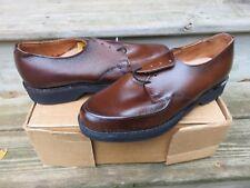 NEW Stuart McGuire Oxford Dress Shoes Brown Size 410 NOS Leather