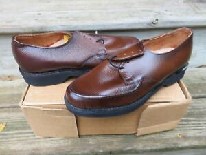 NEW Stuart McGuire Oxford Dress Shoes Brown Size 410 NOS Leather
