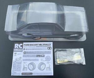 Tamiya 51658 Ford Escort Mk.II Rally/MF01X Clear Body Shell (58687) (NEW)
