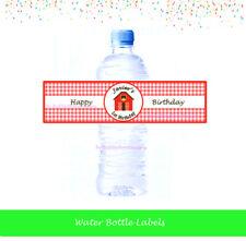 Farm Animal Bottle Labels, Personalised Birthday, Baby Shower, Christening