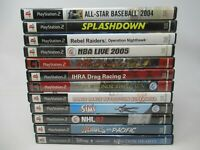 12 GAME LOT FOR PLAYSTATION 2 PS2, DISC, CASE INLAY, BOOKLET, SIMS KINGDOM DDR +