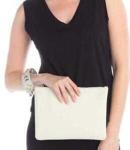 $128 - Vince Camuto Botol Light Grey Leather Wristlet Clutch