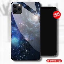 Deep Space Galaxy Blue Glass Phone Case Samsung Huawei iPhone Xiaomi Gift Idea