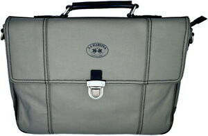 Messenger Bag Grey Man Woman Shoulder Strap La Martina Bag Men Woman Briefcase
