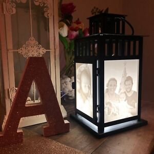 Personalised Lithophane LED Lantern Panel Light - 3D Printed Custom Photo Lamp
