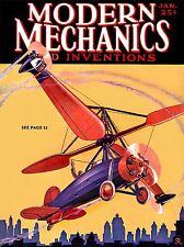ART PRINT POSTER MAGAZINE COVER 1930 AUTOGYRO MODERN MECHANICS NOFL0625