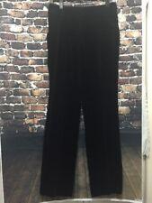 CoSTUME NATIONAL PANTS Size 42 Black Velvet ITALY