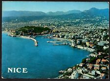 Posted 1974 - Aerial View of Nice Harbor & Town