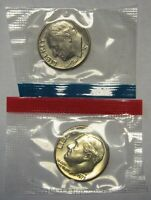 2007-P /& D UNCIRCULATED SATIN ROOSEVELT DIMES FROM MINT SET 2 COINS