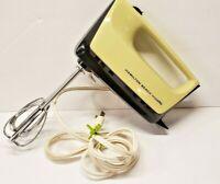 Hamilton Beach Mixette Model 87 /100 Watts Yellow  Vintage Hand Mixer