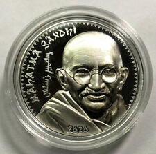2020 Mongolia 1000 Togrog Mahatma Gandhi 1 oz Silver Proof Coin - 1,000 Made