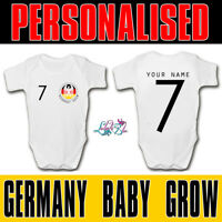 Personalised Germany 2019 Football Baby Grow | Football Baby Romper | World Cup