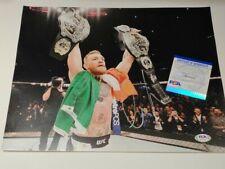 Conor McGregor Signed Autograph UFC Star MMA Double Champion 11x14 Photo PSA