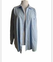 Vineyard Vines Slim Fit Tucker Button Front Shirt 2XL Whale Logo Pink Blue Plaid