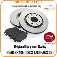 1314 REAR BRAKE DISCS AND PADS FOR AUDI COUPE QUATTRO 2.3 20V 1989-1992