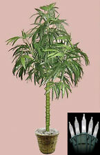 7' ARTIFICIAL BAMBOO PALM TREE PLANT SILK ARRANGEMENT TOPIARY BASKET CHRISTMAS