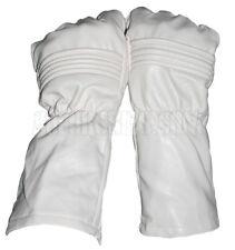 Power Man Super hero Ranger gloves style / White Synthetic Leather