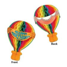 CIRCUS Tissue HOT AIR BALLOON Carnival Birthday Party Decoration