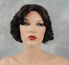 Medium Dark Brown Fingerwave 1920s 1930s Curly Gatsby Roxie Flapper Wig!