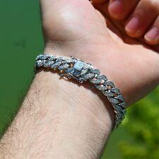 Diamond Cuban Link Bracelet (10mm) in White Gold