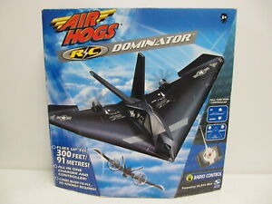 Air Hogs R C Dominator Stealth Airplane 2004 Spin Master Sealed