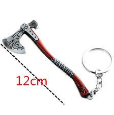 GOW4 God of War 4 Kratos Cratos Leviathan Axe Silver Metal Keychains Keyring