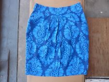 JOULES 'Original' blue knee-length FLORAL skirt Size 8 USED GOOD CONDITION